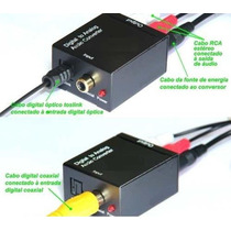 Adaptador Conversor Otico Toslink Coaxial Digital Para 2 Rca