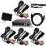 Extensor Repetidor Av Audio Video E Controle Remoto Até 4 Tv