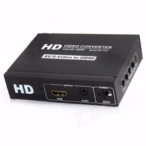 Mini Adaptador Conversor Video Composto 3 Rca Av Para Hdmi