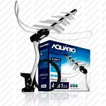 Kit Antena Aquário Dtv3000 Vhf Uhf Hdtv + Cabo 16m + Suporte