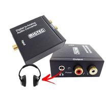 Conversor Áudio Digital Para Analógico + Entrada P/ Fone P2