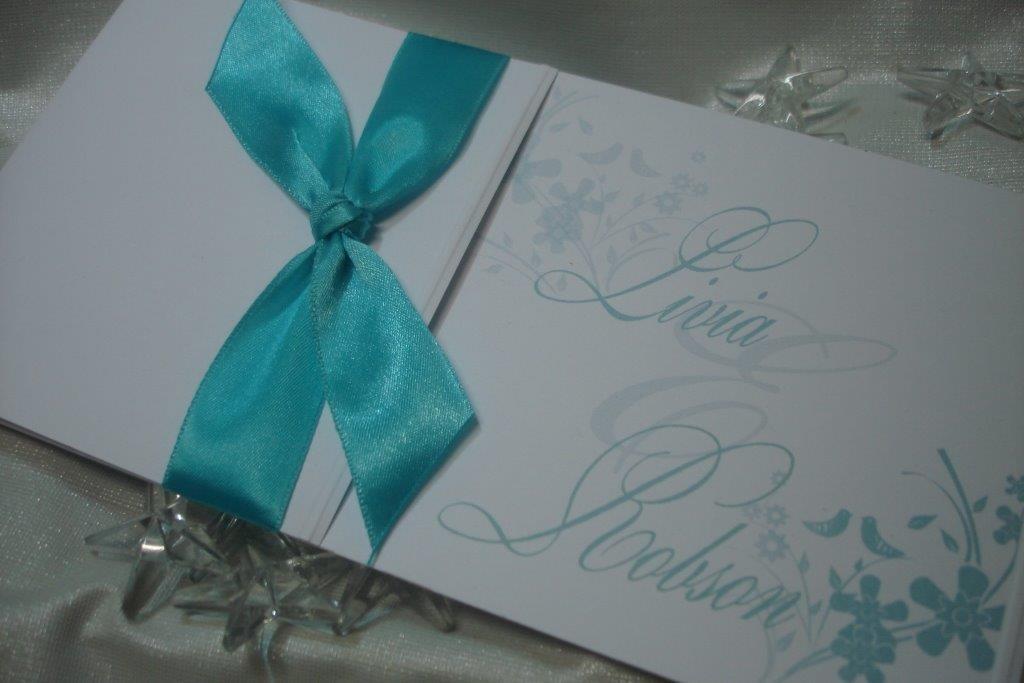 Convite Casamento Azul Tiffany - R$ 487,00 no MercadoLivre