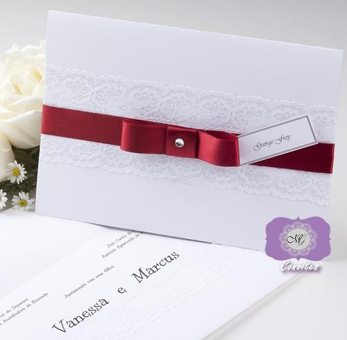 Convites De Casamento, Bodas De Ouro, Aniversários (10 Unid)