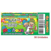 Convite Infantil Patati Patata Personalizado - 50 Unidades
