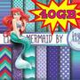 Kit Scrapbook Digital Ariel Pequena Sereia + 3400 !! 40gb