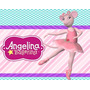 Kit Angelina Ballerina + Desenha Convites + Cartões #01