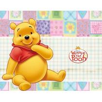 Convites Ursinho Pooh Aniversários + Desenha + Ref 001