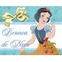 Kit De Festa Princesa Branca De Neve Arte Ref 001