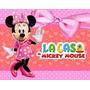 Kit Minnie Mouse Rosa + Desenha Convites + Ref 002