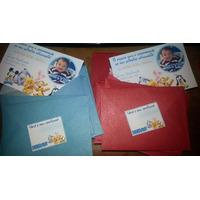 30 Convites Aniversário Envelope 7x10 Personalizados