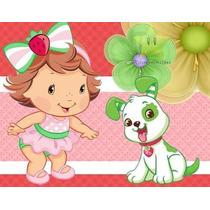 Kit De Festa Moranguinho Baby + Convites Ref 001