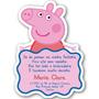 30 Convites Personalizados Com Corte Especial - Peppa Pig
