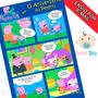 Arte Convite Aniversário Infantil Gibi Peppa Pig George