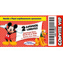 Convites Tipo Ingresso - 10 Unidades - Mickey