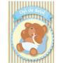 Convite Chá De Bebê Urso Menino - Com 40 Unidades