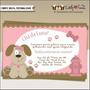 Convite Chá De Bebê Cachorrinho - Menina- Digital