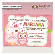 Convite Chá De Bebê Corujinha Digital
