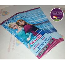 50 Convite Ingresso Frozen Aniversário Frete Grátis