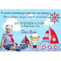 50 Convite Aniversário 10x15 Urso Ursinho Marinheiro Aviador