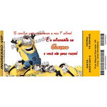 50 Convite Ingresso Minions Patati Circo Aniversário
