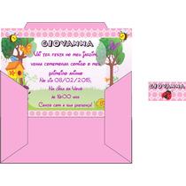 24 Convites Personalizados, Com Envelopes E Etiquetas