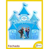 Convite Aniversário Infantil Frozen Castelo 15x13cm (30 Un)
