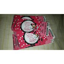 Minnie - Convite Ingresso Aniversário 50 Unidades
