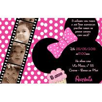 50 Convite 10x7 Mickey Minnie Princesas Galinha Aniversário