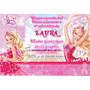 Convite Barbie A Sapatilha Mágicas