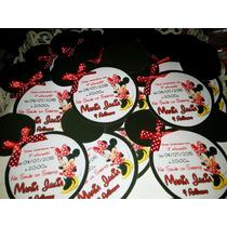 40 Convite Infantil Aniversário Minnie Ou Mickey