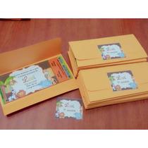 50 Convite Ingresso Vip Aniversário Com Envelope E Adesivos