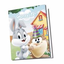 Convite De Festa De Aniversário Looney Tunes Piupiu Baby 8u.