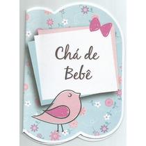 40 Convites Chá De Bebê Menina