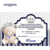 100 Convites Personalizados Chá De Bebê Ou Fraldas