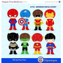Kit Scrapbook Digital Super Heroes - Super Heróis 17 Clipart