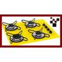 Fogão Cooktop De Embutir 4 Bocas Amarelo Chamalux