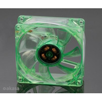 Cooler Fan 80mm Leds Verde Ak170cg-4gns 3/4 Pinos Akasa