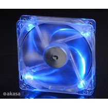 Cooler Fan Akasa Crystal 12x12 Cm C/ 4 Led´s - Azul 17
