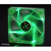 Cooler Fan 120mm Akasa Led Verde Cristal