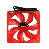 Kit 2 Coolers Fan Led Vermelho 12cm 120x120x25 120mm 2 Plug
