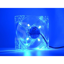 Cooler Fan Com Led Azul 80mm 80 X 80 X 25mm