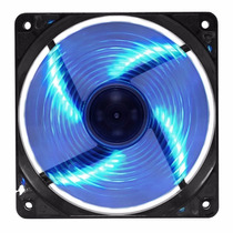 Kit Com 3 Cooler Azul Color Led Gabinete 120mm