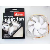 Cooler Fan 4 Led Gabinete 120x120x25mm 12cm Branco Akasa ·