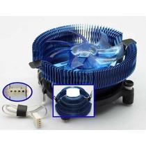 Cooler Compatível Intel E Amd C/ 2 Led`s Azuis