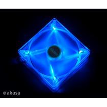Cooler Fan Akasa Ultra Silencioso 4 Led´s - Azul 14 Cm Fn074