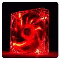 Ventoinha Ventilador Cooler Gabinete 12cm 120mm Led Vermelho