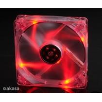 Cooler Fan Crystal C/4led´s 80x80mmakasa Azul-verde-vermelho