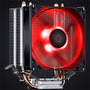 Cooler Intel Amd Zero K Z2 Fan 92 Mm Led Red Pcyes Lga 100w