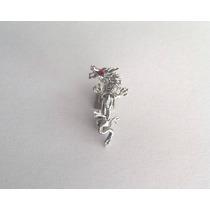 Piercing Para Umbigo Em Prata Modelo Dragão. (novo)