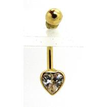Piercing Umbigo Ouro 18k Coraçao Cristal - K1.45 - Pie1262